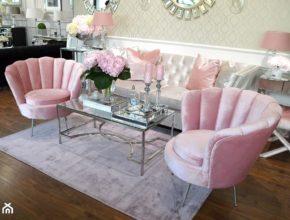 Fotel w stylu glamour