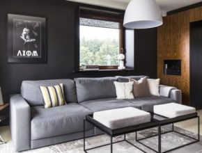 Czy czarna ściana w salonie to dobry pomysł?