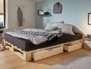 Jak zrobić samodzielnie łóżko z palet z szufladami?