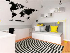 Pokój młodzieżowy z meblami IKEA